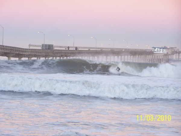 Ocean Beach Pier 11/3/10  0730 hrs. SoCal, Surfing photo