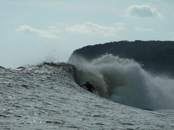 6:30 AM wedge at the Point. El Salvador, Surfing photo
