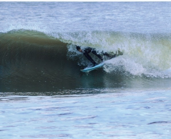 Christmas Swell barrel 2. New Jersey, Surfing photo