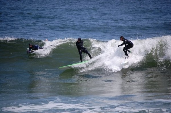 Manasquan April 17 Crowded wave. New Jersey, Surfing photo