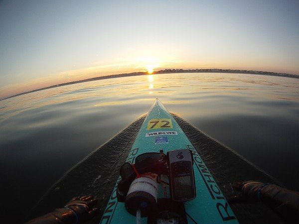 Evening Commute (Paddleboarding) Home stretch on a
