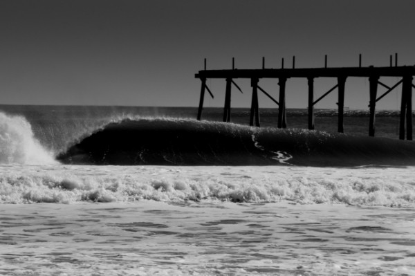 Pier Gone Off Valentines day 2007. New Jersey, surfing photo