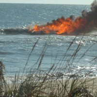 Boat On Fire This Morning 118th St Ocmd right off 118th...be