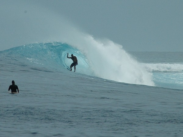 Sumatra 2007 Mick from Australia shacked at Bawa