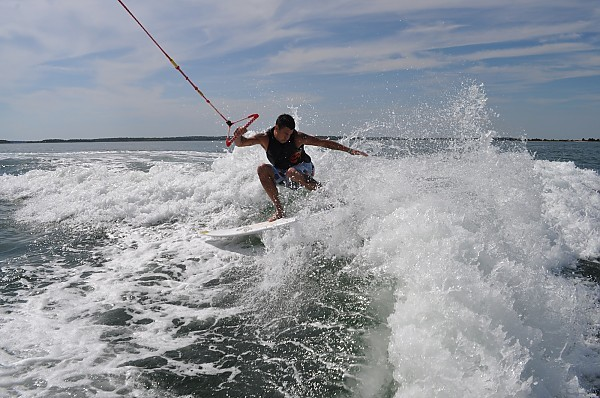 Fun when it's Flat wake surfing
