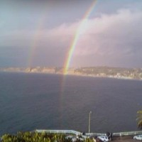 Pots Of Gold. One rainbow ends at the Scripps pier,