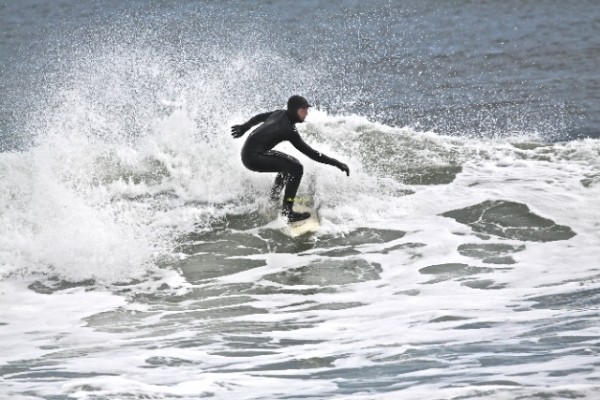 Jersey Shore - Winter Surf Belmar/Manasquan area on