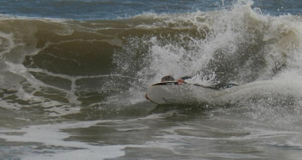 Sponging. Delmarva, surfing photo