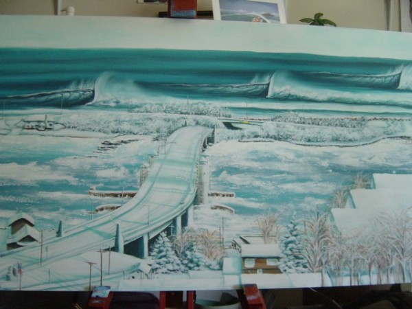 Cold Sweat oil on canvas. New Jersey, Surf Art photo