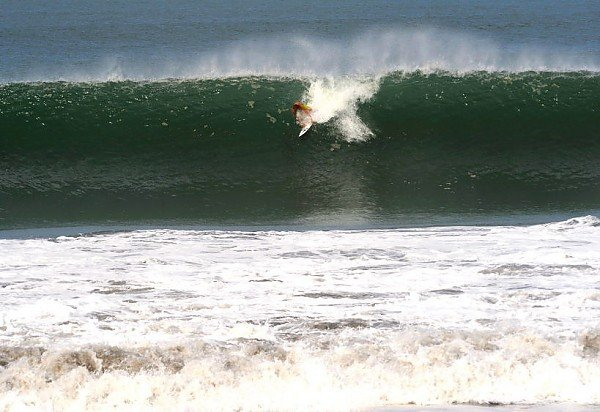 ''Charge'' Alex Brooks dropping in a on a Costa Rican