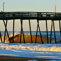 Empty Avalon Pier. Virginia Beach / OBX, Empty Wave photo