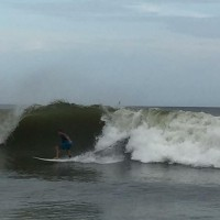 Jerry Schuller surfing the Jose swell at Oak Island,