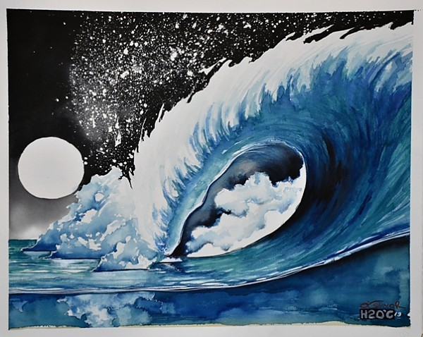 MindRip. Watercolor/Ink.. United States, Surf Art photo