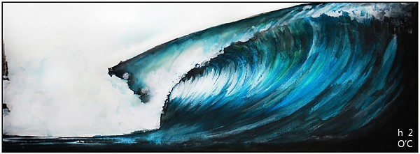 Blue Barrel Watercolor/Gesso.. United States, Surf Art photo