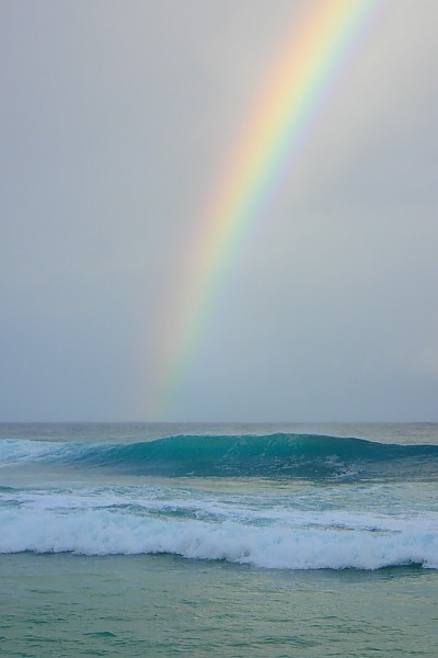 Rainbow Wednesday Pipe 1 Pipeline surf break