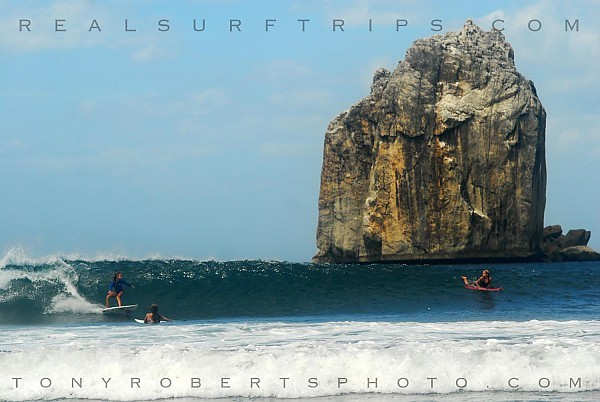 REAL exotic! Surfing in a remote tropical dry forest...