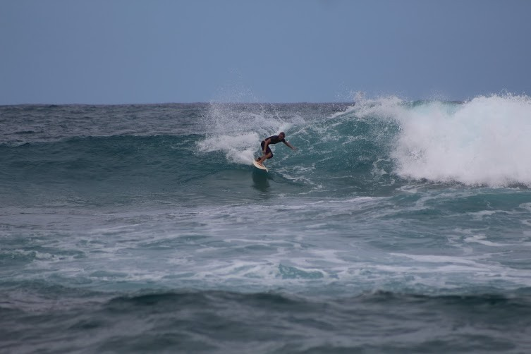 fun times on the north shore, one of my first waves