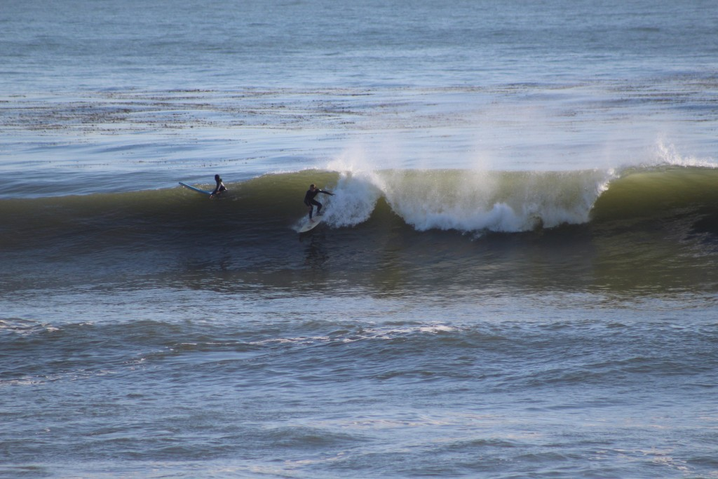 fun little swell at santa cruz this spring