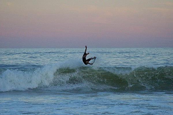 Hurricane Leslie surfing. New Jersey, Surfing photo