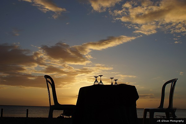 Table for Two dinner on the beach in Puerto Rico