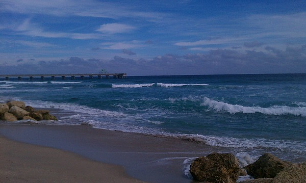 Deerfield Beach Florida. South Florida, Empty Wave photo