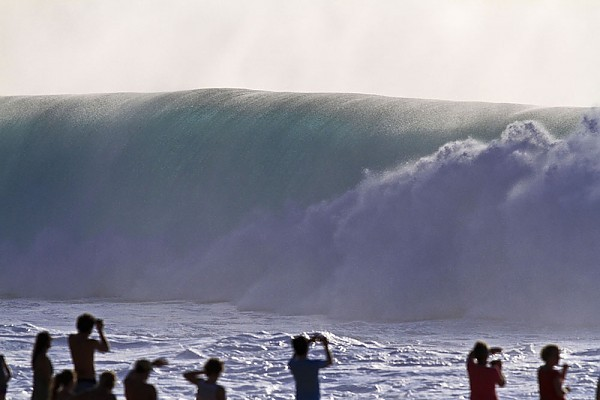 Oahu's North Shore A big day at the Pipe.....