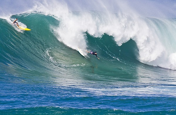 Waimea Bay, North Shore Oahu Big Day at the Bay....Wipeout
