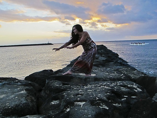 Oahu's North Shore Haleiwa, Sunset and the Hula Girl