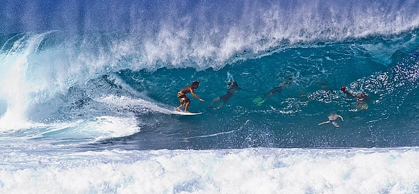 First winter swell hitting Oahu's north shore First