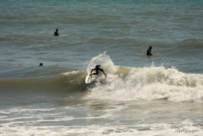 Surfing little backside turns. Southern NC, Surfing photo