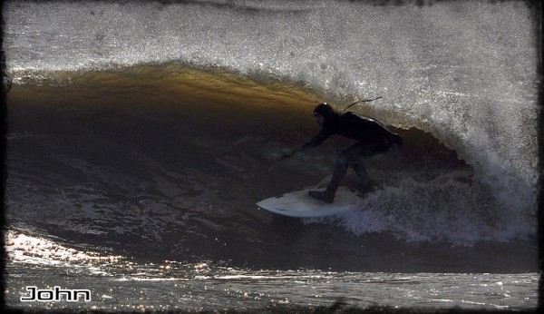 John Gets Slotted Surfing from Delaware on April 17th,