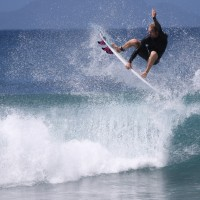 Davey Stiles, frontside air reverse in Rincon PR. photo