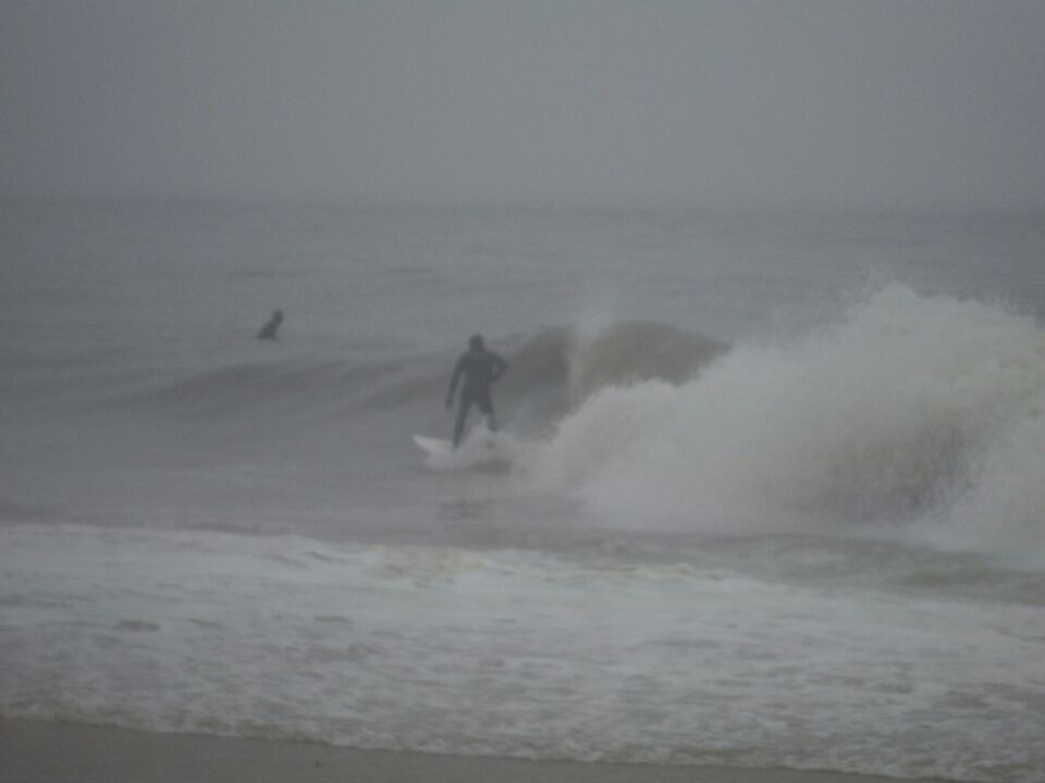 Foggy day. Delmarva, Surfing photo