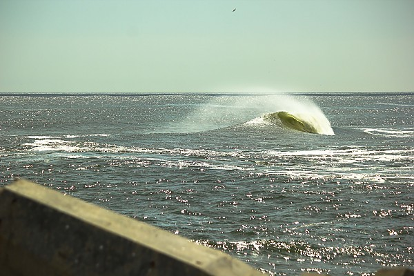 inlet manasquan inlet south side. New Jersey, Empty Wave photo