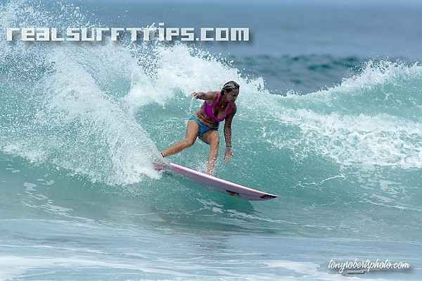 Real Surf Trips.com Four time world champion Lisa Andersen