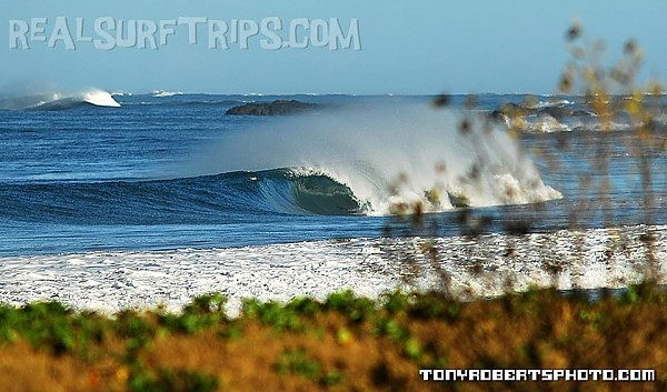 Real Surf Trips Costa Rica a quiet peak pitting out....REAL