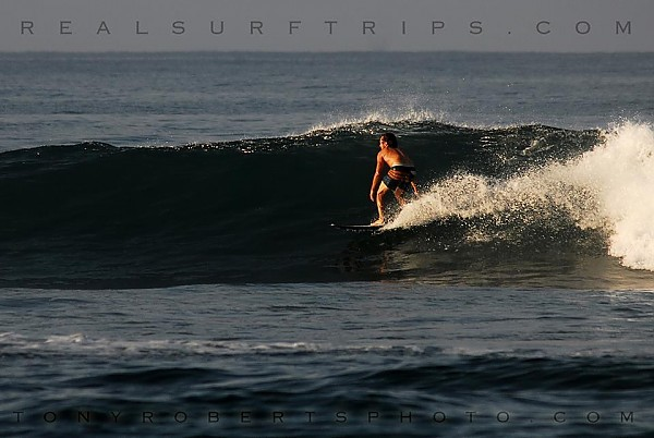 Real Surf Trips Costa Rica Sunrise vibe and flying