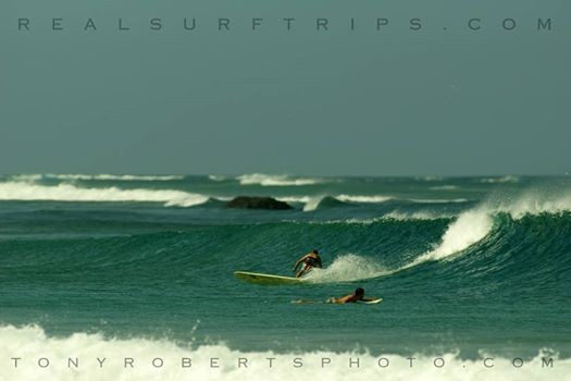 Real Surf Trips Costa Rica Flying on the breeze, just