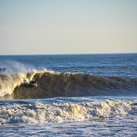 bodyboarding bomb wave in cape may new jersey queen