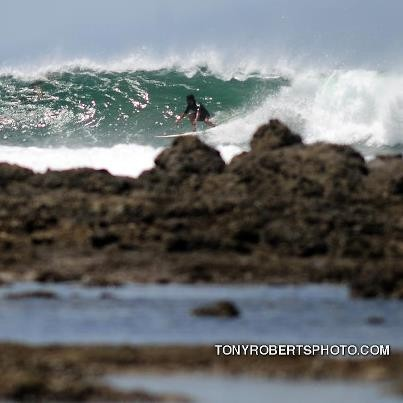 Real Surf Trips Our home break at high tide is easy,