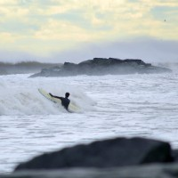 January Nor'easter. New Jersey, Surfing photo