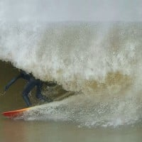 January Nor'easter, Pier Village. New Jersey, Surfing photo