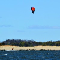 Sandy Hook, April 8th. New Jersey, Kitesurfing photo