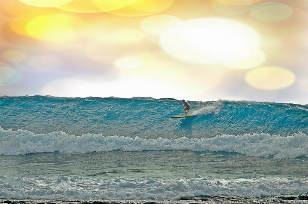 Oahu, Surf Art photo