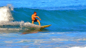 Smooth Bottom Turn. Oahu, Surfing photo