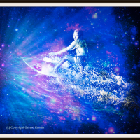 Surfing the Stars. Oahu, Surf Art photo