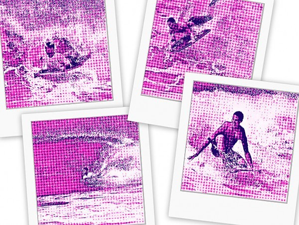 RETRO. United States, Surf Art photo