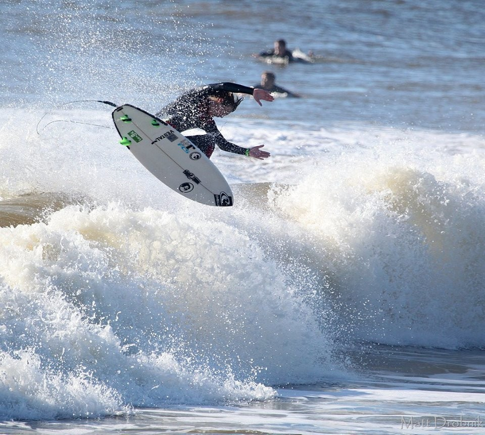 Will Davis surfing the Washout . South Carolina, Surfing photo