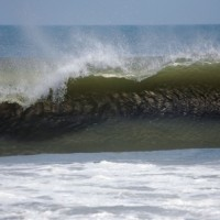Hollow Left Hurricane Bill Swell. Southern NC, Empty Wave photo