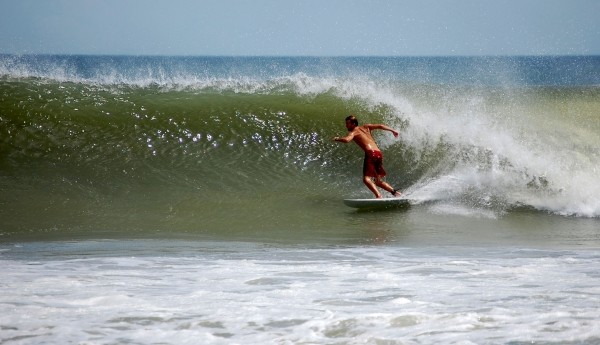 Smooth Right Hurricane Bill Swell. Southern NC, Surfing photo